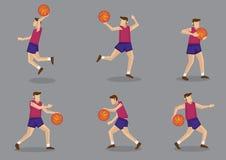 Basketball player with Basketball Vector Illustration Stock Image