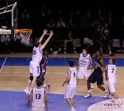 Basketball player blocking Royalty Free Stock Image