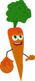 Basketball player carrot Stock Image