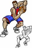 Basketball Player Cartoon. Vector Images of Cartoon Basketball Player Stock Photography