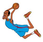 Basketball player cartoon Stock Photos