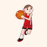 Basketball player cartoon elements vector,eps. Vector illustration file Royalty Free Stock Images