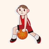 Basketball player cartoon elements vector,eps Royalty Free Stock Photo