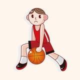 Basketball player cartoon elements vector,eps Royalty Free Stock Photo