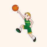 Basketball player cartoon elements vector,eps Stock Photo