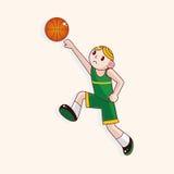Basketball player cartoon elements vector,eps. Vector illustration file royalty free illustration