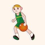 Basketball player cartoon elements vector,eps. Vector illustration file Stock Photos