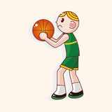 Basketball player cartoon elements vector,eps Stock Photos