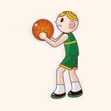Basketball player cartoon elements vector,eps Stock Photos