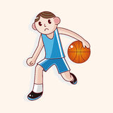 Basketball player cartoon elements vector,eps Royalty Free Stock Photography