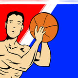 Basketball Player Cartoon Royalty Free Stock Photography