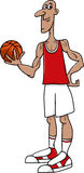 Basketball player cartoon illustration Royalty Free Stock Image