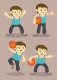 Basketball Player Cartoon Vector Stock Photography