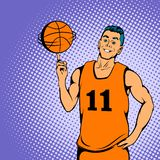 Basketball player concept, comics style. Basketball player concept in comics style for any design royalty free stock images