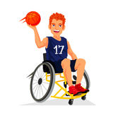 Basketball player with a disability in a wheelchair Royalty Free Stock Images