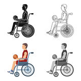 Basketball player disabled.Basketball single icon in cartoon style vector symbol stock illustration web. Royalty Free Stock Image
