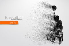 Basketball player disabled. Vector illustration. Basketball player disabled. Text on a separate layer, color can be changed in one click. Vector illustration royalty free illustration