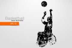 Basketball player disabled. Vector illustration. Basketball player disabled. Text on a separate layer, color can be changed in one click. Vector illustration vector illustration