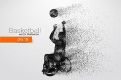 Basketball player disabled. Vector illustration. Basketball player disabled. Text on a separate layer, color can be changed in one click. Vector illustration stock illustration