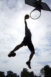 Basketball Player Dunk Silhouette Stock Photography