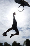 Basketball Player Dunk Silhouette Royalty Free Stock Photography