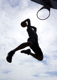 Basketball Player Dunk Silhouette Royalty Free Stock Image