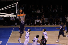 Basketball player dunking Royalty Free Stock Photography