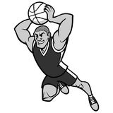 Basketball Player Dunking Illustration Stock Image