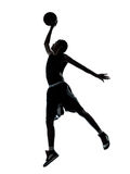 Basketball player dunking silhouette royalty free stock photo