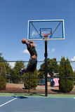 Basketball Player Dunking royalty free stock images