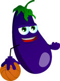 Basketball player eggplant Royalty Free Stock Photo