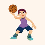 Basketball player elements vector,eps Stock Images