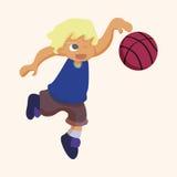Basketball player elements vector,eps Royalty Free Stock Photos