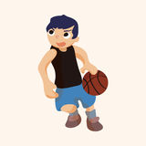 Basketball player elements vector,eps Royalty Free Stock Images