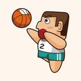 Basketball player elements vector,eps Stock Photos
