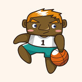 Basketball player elements vector,eps Royalty Free Stock Photo