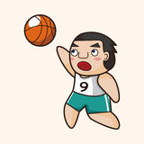 Basketball player elements vector,eps Royalty Free Stock Photography