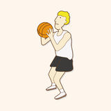 Basketball player elements vector,eps. Vector illustration file Stock Images