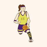 Basketball player elements vector,eps. Vector illustration file Stock Photo