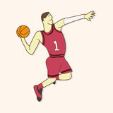 Basketball player elements vector,eps Stock Image