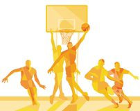Basketball player on the field. Illustration royalty free illustration