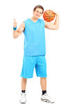 Basketball player giving a thumb up Royalty Free Stock Photo