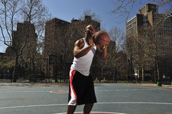 Basketball player going for the win Stock Images