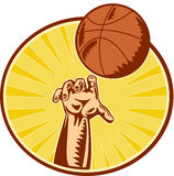 Basketball Player Hand Catching Throwing Ball Stock Image