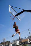 Basketball Player Hang Time Stock Photo