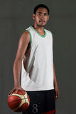 Basketball player hold the ball Royalty Free Stock Photos