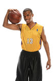 Basketball Player Holding Ball Stock Photography