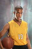 Basketball Player Holding Ball Royalty Free Stock Images