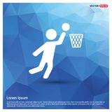 Basketball Player Icon. This Vector EPS 10 illustration is best for print media, web design, application design user interface and infographics with well stock illustration