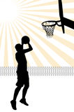 Basketball Player Illustration Royalty Free Stock Image